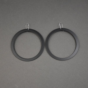 Bangle Earrings - Wide, Matte Black