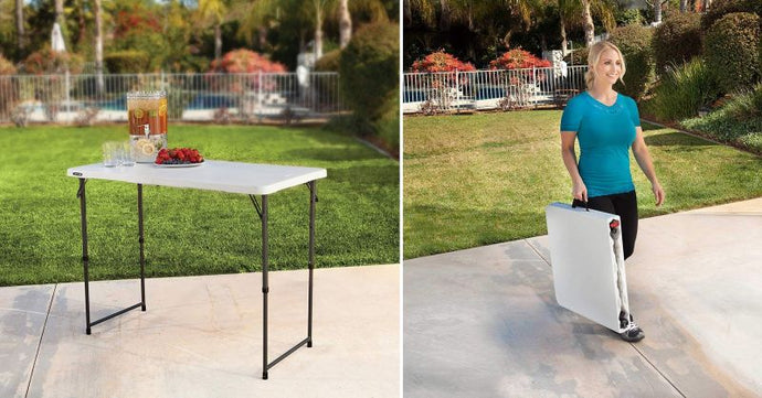 Folding tables are super practical in a variety of different situations