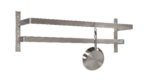 Tarrison WPR48 Stainless Steel Wall Mount Pot Rack with 8 Hooks, 48