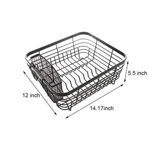 Discover the best asdomo dish drying rack stainless steel dishes drainer with detachable drainboard rustproof organizer utensils holder for kitchen counter