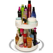 Selection cosmetic organizer for tall bottles that spins no more cluttered countertop pretty in white goes with any decor proudly made in the usa by ppm