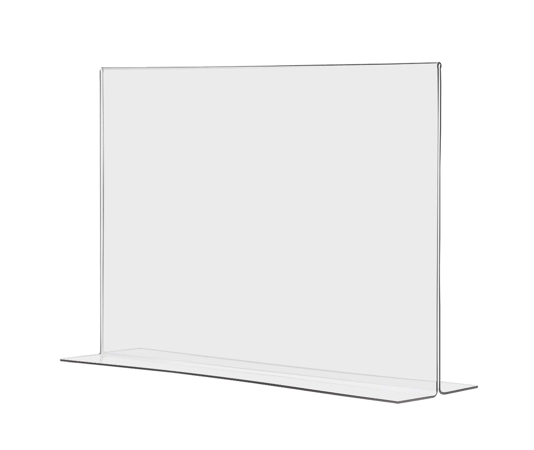 Latest marketing holders tabletop sign holder for posters advertisements flyers informational sheet signage frames countertop lucite picture frame 17w x 11h bottom load pack of 40