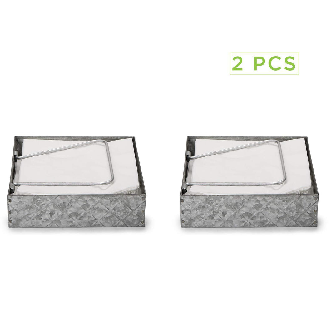 Save on mind reader galvanized 2 pack flat storage organizer with pivoted arm counter top napkin holder kitchen brunch picnics silver one size 2napgalv sil