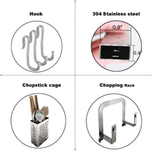 Storage organizer 304 stainless steel dish dryer rack cutting board holder and kitchen dish drainer for kitchen counter top silver 17 3x6 1x13 5inch