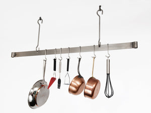 Enclume Premier 48-Inch Offset Hook Ceiling Bar Pot Rack, Stainless Steel