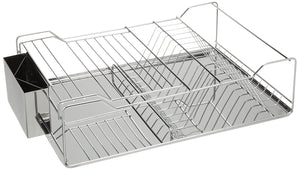 Budget friendly just manufacturing jsdd 1851275 counter top stainless steel dish rack with tray