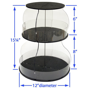 Amazon kitchen organizer that spins for easy access only 12 of counter space all your used daily items at your fingertips bonus clear sides keep it in proudly made in the usa