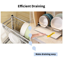 The best 304 stainless steel dish dryer rack cutting board holder and kitchen dish drainer for kitchen counter top silver 17 3x6 1x13 5inch