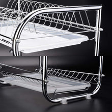 Buy now glotoch dish drying rack 3 tier dish rack with utensil holder cup holder and dish drainer for kitchen counter top plated chrome dish dryer silver 17 2 x 9 5 x 15 inch