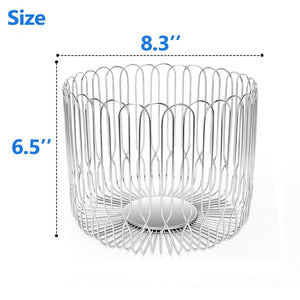 Order now fruit basket bowl stainless steel large wire fruit storage basket with bread for kitchen counter lanejoy