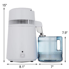 Heavy duty vevor countertop water distiller 750w purifier filter with handle 1 1 gal 4l bpa free container perfect for home use white