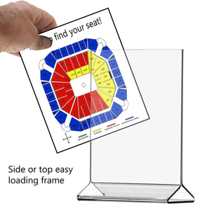 Save marketing holders literature flyer poster frame letter notice menu pricing deli table tent countertop expo event sign holder display stand 8 5w x 11h pack of 10