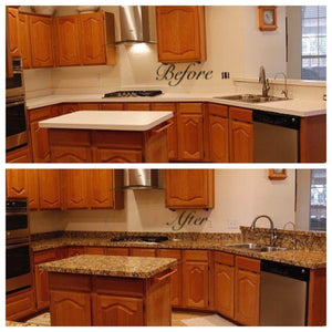 Order now ez faux decor instant venetian gold santa cecilia marble granite countertop film self adhesive vinyl laminate counter top peel and stick not contact paper 36 x 240