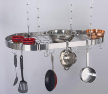 "Concept Housewares PR-40901 Hanging Pot Rack 38"" Silver"