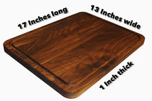 Results extra large reversible walnut wood cutting board by shorz 17 x 13 x 1 inch made in usa from american black walnut hardwood boards keep knives sharp juice groove keeps kitchen countertop clean
