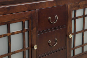 The best ronbow shoji 60 inch living room bathroom furniture in vintage walnut wood cabinet with three drawers wood countertop 040460 d f07_kit_1