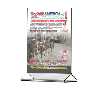Selection marketing holders literature flyer poster frame letter notice menu pricing deli table tent countertop expo event sign holder display stand 8 5w x 11h pack of 10