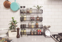 Heavy duty jackcubedesign wall mount spice rack 4 tier kitchen countertop worktop display organizer spice bottles holder stand shelves17 6 x 2 8 x 20 8 inches mk418a
