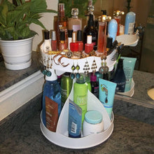 Storage organizer cosmetic organizer for tall bottles that spins no more cluttered countertop pretty in white goes with any decor proudly made in the usa by ppm