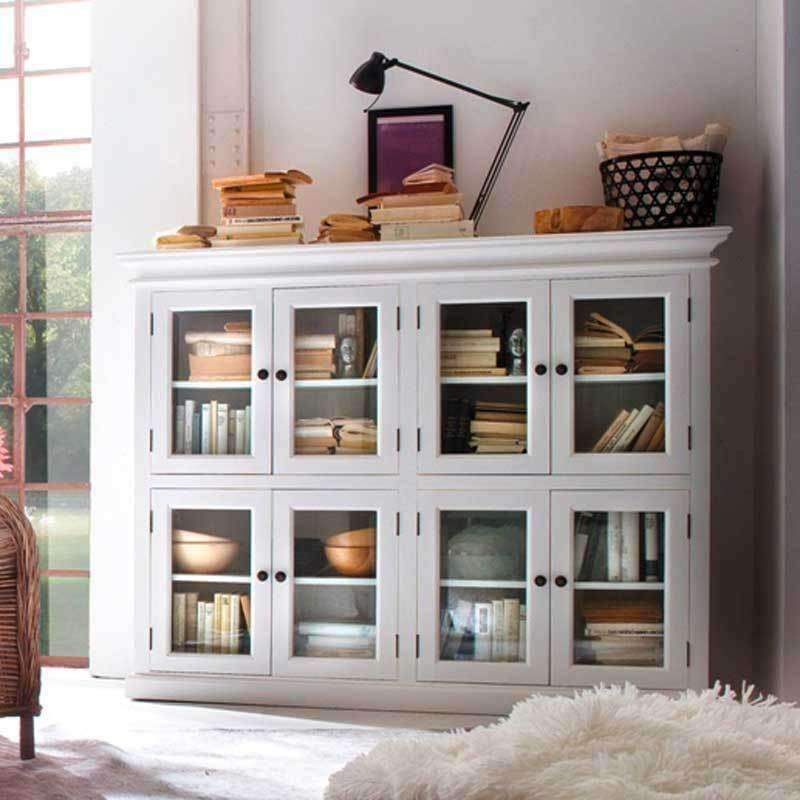 Halifax White Painted 8 Door Pantry Cabinet
