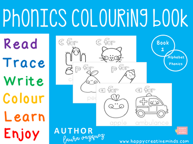 Phonics Colouring Book 1