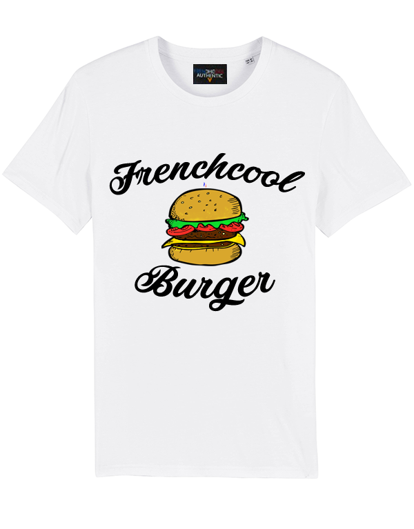 "T-shirt Blanc ""Frenchcool Burger"" 🍔"