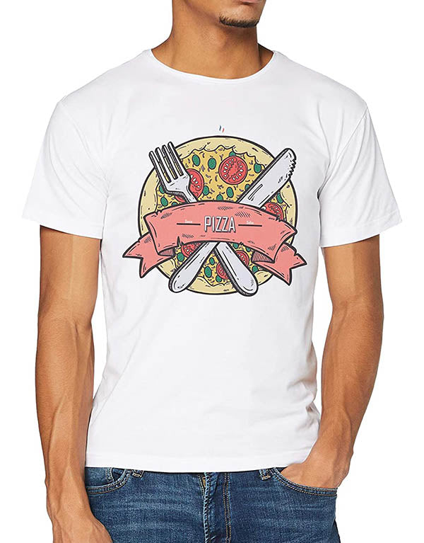 "T-shirt Blanc ""Pizza Sauce Dallas"" 🍕"