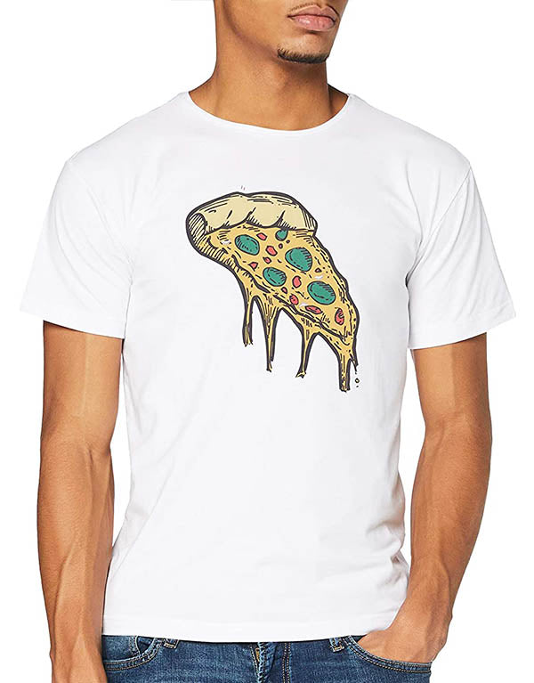 "T-shirt Blanc ""Slice de Pizza"" 🍕"