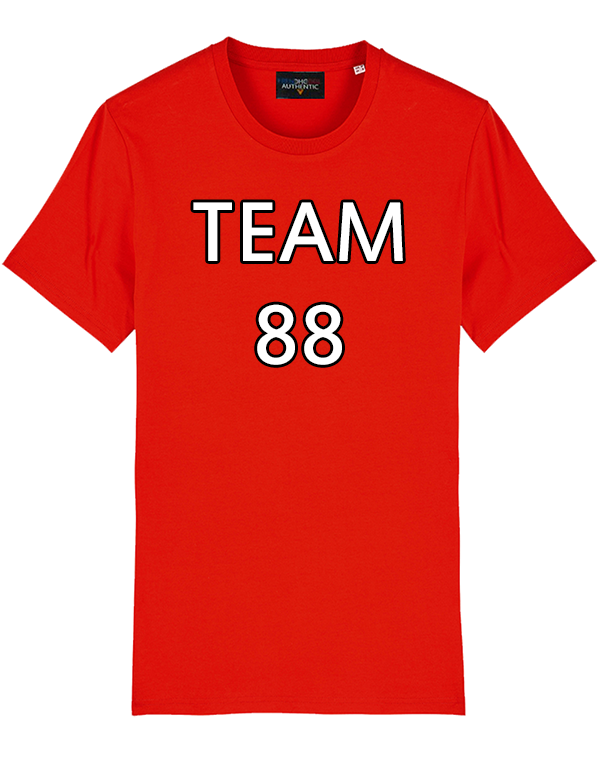 "T-shirt rouge ""TEAM 88"""
