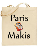 "Tote bag beige ""Paris Makis"" 🍣"