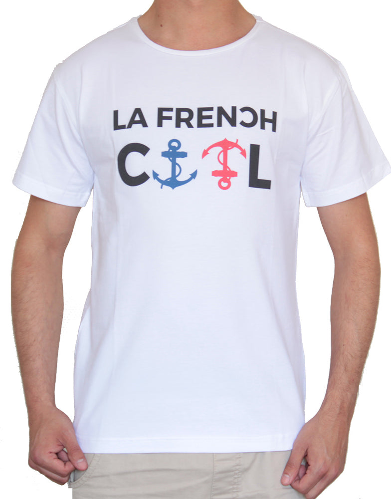 "T-shirt Blanc ""Ancres Cool"" ⚓⚓"