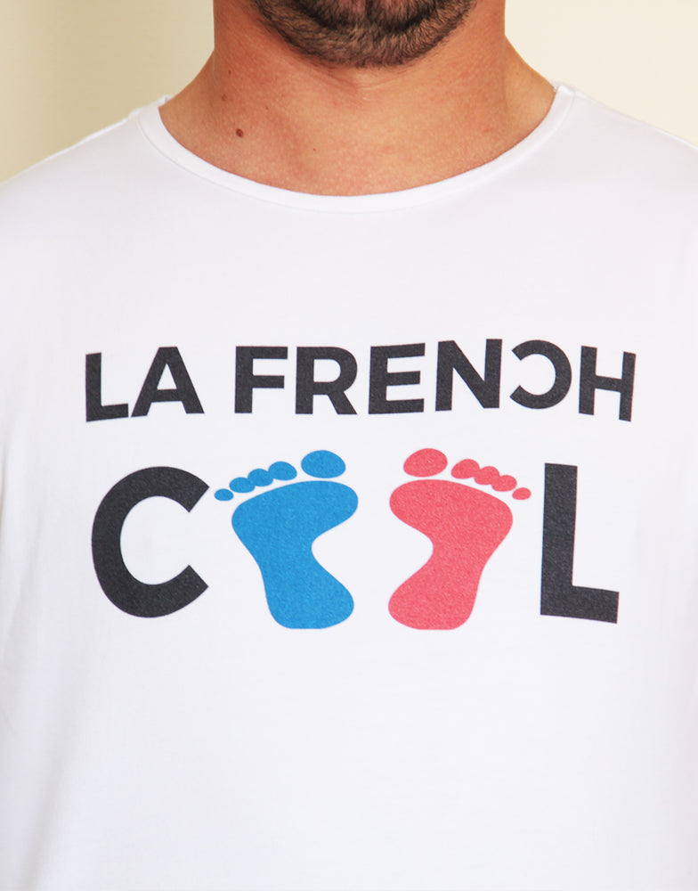 "T-shirt Blanc ""Frenchcool Feets Color"""