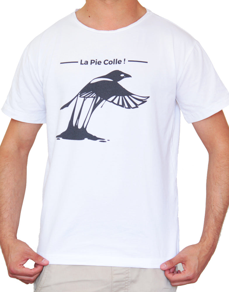"T-shirt Blanc ""La Pie colle !"" 🐦"