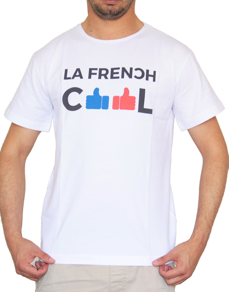 "T-shirt Blanc ""Frenchcool Like it"""