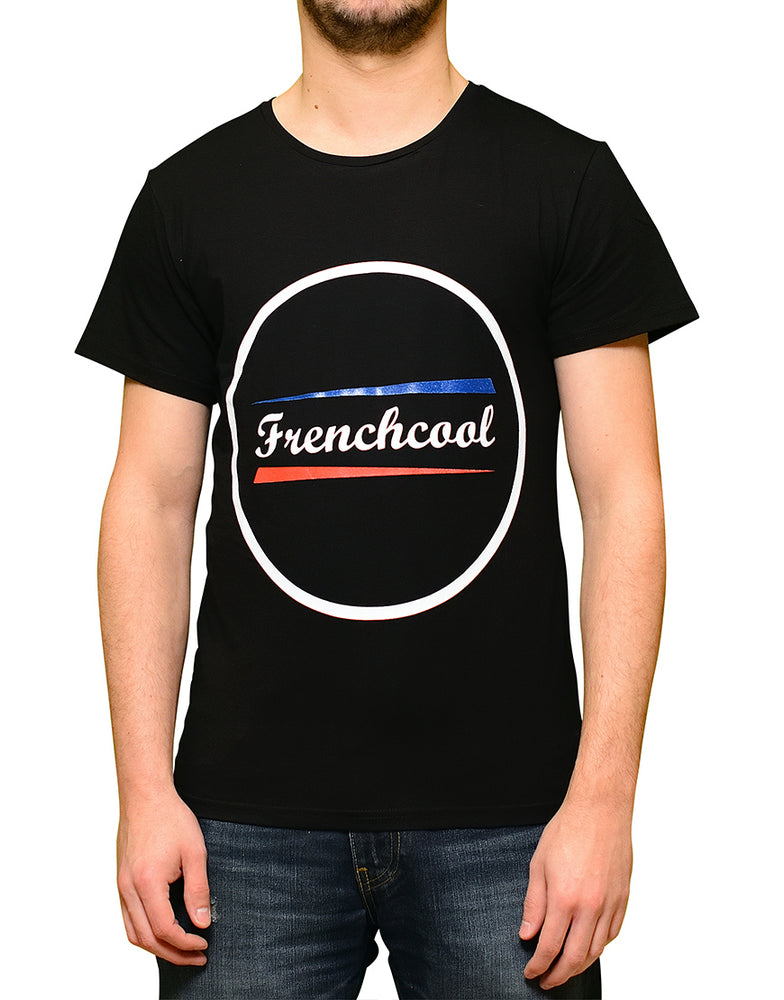 "T-shirt Noir ""Frenchcool Circle"""