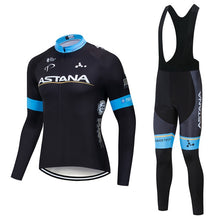 Load image into Gallery viewer, ASTANA 2018 Team long sleeve Cycling jersey Set bib pants ropa ciclismo bicycle clothing MTB bike jersey Uniform Men clothes - thebicyclingstores.com