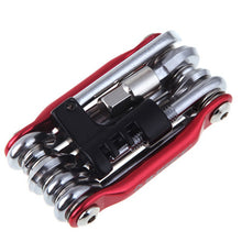 Load image into Gallery viewer, 15 In 1 Bike Tools Bicycle Repairing Set Bike Repair Tool Kit Wrench Screwdriver Chain Carbon steel bicycle Multifunction Tool - thebicyclingstores.com