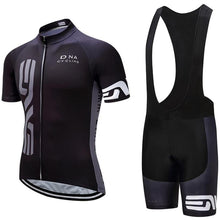 Load image into Gallery viewer, Black Cycling Jersey Set - thebicyclingstores.com