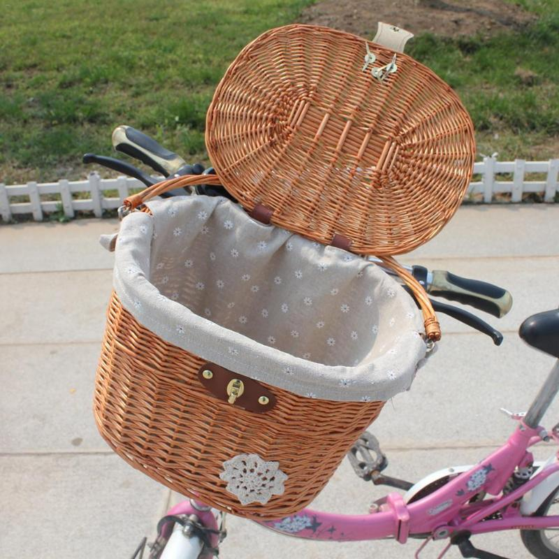 Bicycle Basket With Brown Straps - thebicyclingstores.com