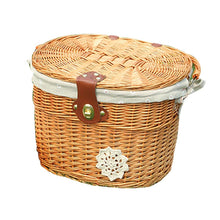 Load image into Gallery viewer, Bicycle Basket With Brown Straps - thebicyclingstores.com