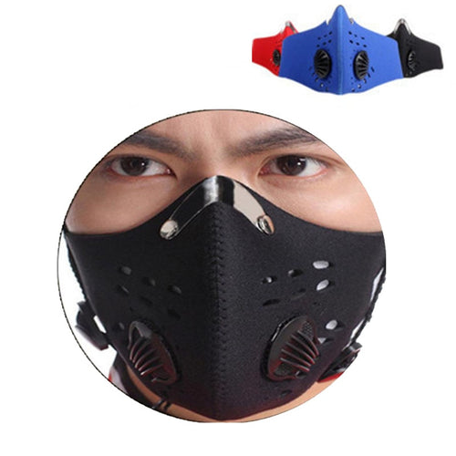Activated Carbon Training Mask Cycling Face Masks Men Women Filter Half Face Carbon Bicycle Bike Mascarilla Polvo Training Masks - thebicyclingstores.com