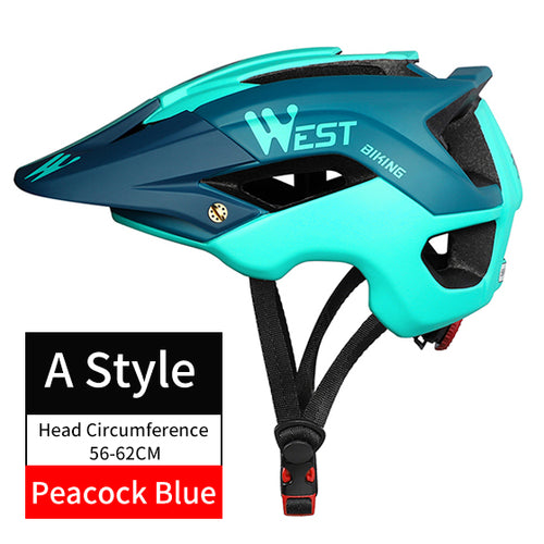 WEST BIKING Bicycle Helmet Trail XC MTB All-terrain Bike Helmet OFF-ROAD Casco Ciclismo Bicicleta Mountain Bike Cycling Helmet - thebicyclingstores.com