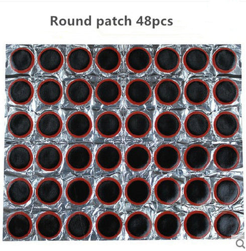 Professional Bike Repair Kits 48Pcs/Set Cycling Puncture Patch Bicycle Motor Bike Tire Tyre Tube Rubber Puncture Patches - thebicyclingstores.com