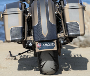 Trask Performance License Plate Frame and Mount Harley