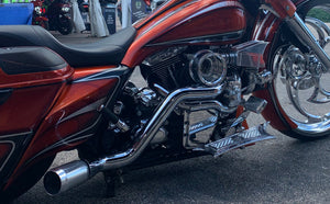 Big Wheel Bagger Chrome Harley Turbo Kit
