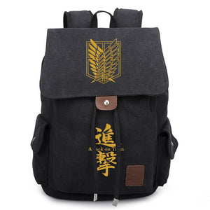 Anime Comics Attack On Titan Casual Backpack