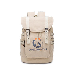 Game Overwatch Canvas Drawstring Backpack