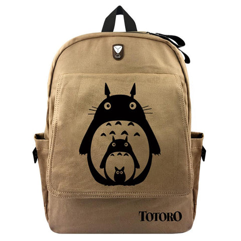 "Japanese Anime Totoro 17"" Canvas Backpack"