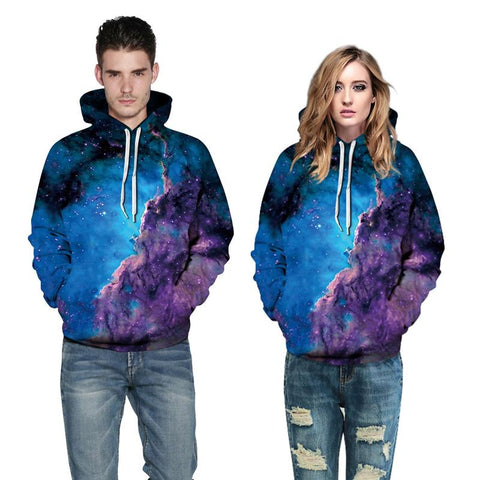 3D Print Hoodie - Starry Galaxy Space Pattern Hooded Sweatshirt OTSO063