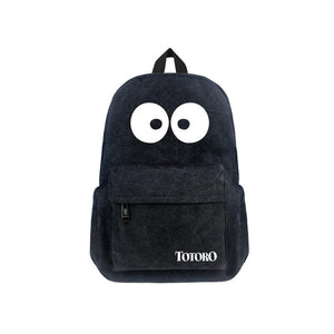 "Japanese Anime Totoro Canvas 17"" Bag Backpack"